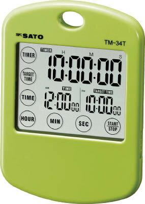 佐藤 ターゲットタイマーミニ グリーン (1802−12)【TM-34T-G】(計測機器・ストップウォッチ・タイマー)【ポイント10倍】