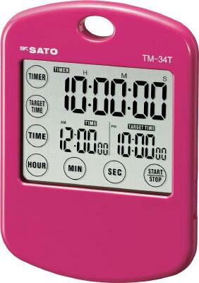 佐藤 ターゲットタイマーミニ ピンク (1802−10)【TM-34T-P】(計測機器・ストップウォッチ・タイマー)【ポイント10倍】