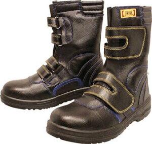 おたふく 安全シューズ静電半長靴マジックタイプ 25.0cm【JW-773-250】(安全靴・作業靴・プロテクティブスニーカー)