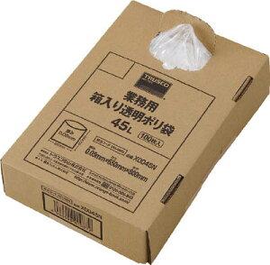 TRUSCO 業務用ポリ袋 透明・箱入り 0.05X120L 100枚入【X0120N】(清掃用品・ゴミ袋)