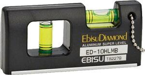 エビスダイヤモンド 磁石付ハンディーレベルー2 ブラック【ED-10HLMB】(測量用品・水平器)