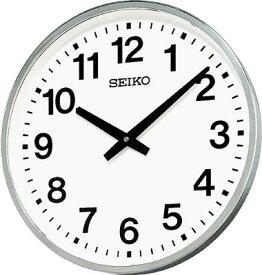 SEIKO 大型屋外防雨型オフィスクロック 直径450×78 金属枠【KH411S】(OA・事務用品・掛時計)【ポイント10倍】