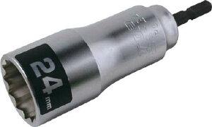 TOP 電動ドリル用12角ソケット 24mm【ESS-24】(レンチ・スパナ・プーラ・ソケットビット(電動用))
