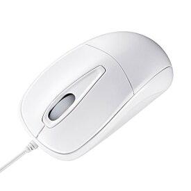 サンワサプライ 静かなクリック音とホイール回転音の静音マウス ホワイト MA-122HW【ポイント10倍】