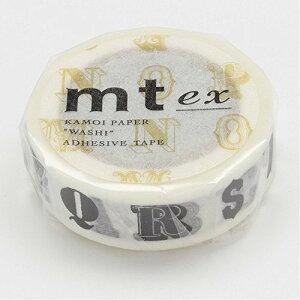 カモ井加工紙 マスキングテープ EX アルファベット クロ R MTEX1P39