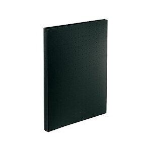 リヒト 名刺ファイル A4 500 黒 A-5043-24 1冊