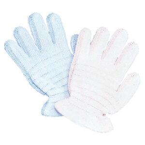 オカモト 浴用手袋 やさしい手 カラー:ブルー 1160A