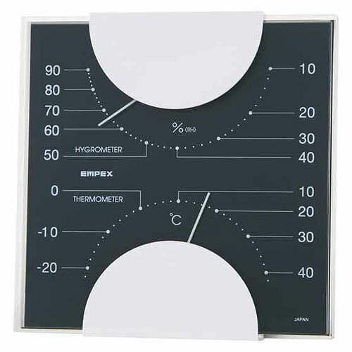 EMPEX (エンペックス) 温度・湿度計 MONO 温度・湿度計 MN-4812 ブラック【ポイント10倍】