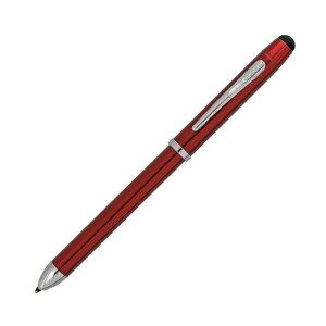 CROSS クロス テックスリ-プラス AT0090-13 トランスル-セントレッドラッカ- ボ-ルペン黒+赤+シャ-プペンシル0.5MM 筆記具