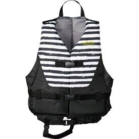 AQA(アクア) ライフジャケット KA9020 【カラー】ブラックボーダー×ブラック 【サイズ】L【ポイント10倍】