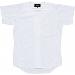 ZETT(ゼット)少年用ユニフォームメッシュフルオープンシャツBU2181MS【カラー】ホワイト【サイズ】130【ポイント10倍】