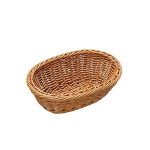 萬洋 樹脂バスケット 小判型 茶 91-070B WBS7602