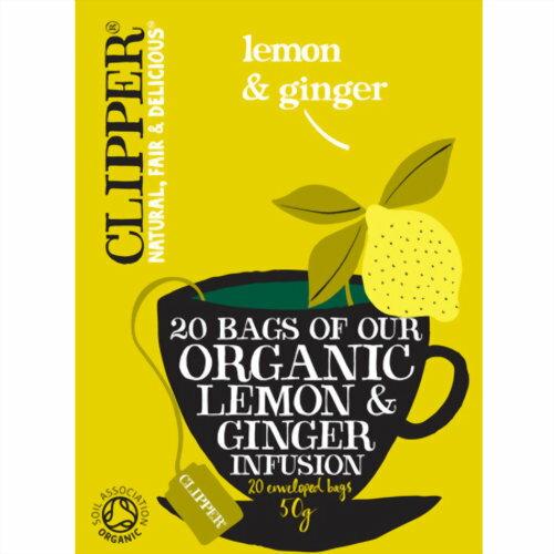 クリッパー オーガニック レモン&ジンジャーティー(20p) 50g MIE PROJECT