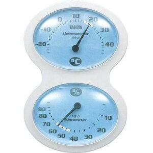 タニタ(TANITA) アナログ温湿度計 掛けタイプ/フック穴付 ブルー TT-509-BL