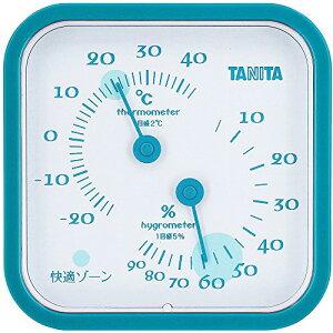 タニタ(TANITA) アナログ温湿度計 置き掛け両用タイプ/マグネット付 ブルー TT-557-BL