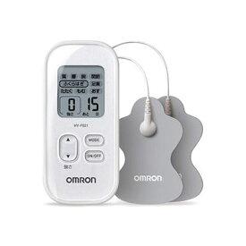 オムロン 低周波治療器 ホワイト HV-F021-W コンパクト 簡単操作 シンプル 15段階調節 パッド水洗い可 持ち運び マッサージ