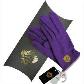 OROBIANCO オロビアンコ レディース手袋 ORL-4153 Jersey glove カシミア ポリエステル PURPLE サイズ:21cm~22cm【送料無料】