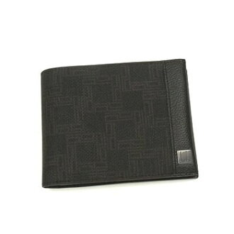 登喜路DUNHILL對開錢包小硬幣袋OH3070A BILLFOLD 4CC/CP D-EIGHT DARK BROWN