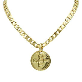 Off-White オフホワイト ペンダント/ネックレス OMOB033R20253064 OFF CROSS NECKLACE GOLD GOLD GOLD GO【送料無料】