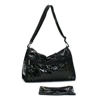Lesportsac LESPORTSAC Bag Black patent 7184 MEDIUM WEEKENDER BK P02Aug14