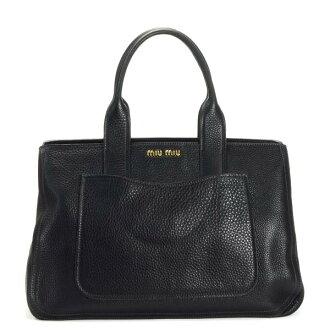 Miu miu MIUMIU handbag VITELLO CARIBU RN0903 NERO BK