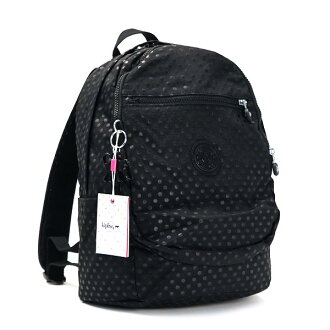 Kipling kipling backpack K15016 CLAS CHALLENGER BLACK DOT EMB BK