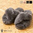 ファーサンダル emu エミュ Mayberry メイベリー シープスキン W11573 サンダル スリッパ シューズ トレンド ふわふわ…