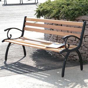 パークベンチ G210 木製 アイアン ガーデン 2人掛け シンプル ベンチ(代引不可)【送料無料】