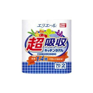 大王製紙エリエール超吸収キッチンタオル2R(70カット)