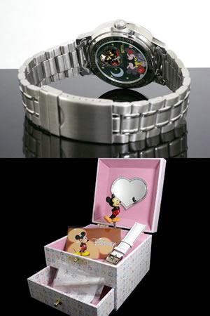 ディズニーミッキー腕時計キスミッキー白DISNEY-30