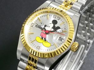 ディズニーミッキー腕時計天然ダイヤレディースDISNEY-10
