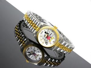 ディズニーミッキー腕時計80周年天然ダイヤレディースDISNEY-4