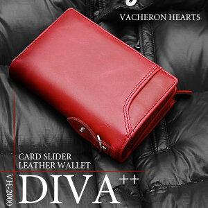 ヴァセロンハーツVACHERONHEARTS二つ折り短財布メンズVH-2000REDレッド【楽ギフ_包装】