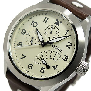フォッシルFOSSILエアロフライトクオーツメンズ腕時計時計CH2938クリーム【楽ギフ_包装】