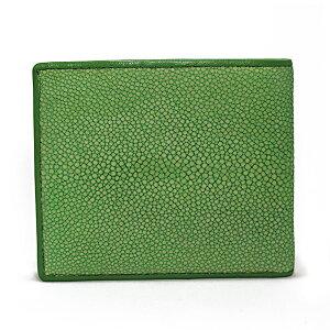 スティングレイポリッシュ二つ折り短財布SJSK-E1563-GRグリーン【送料無料】【楽ギフ_包装】