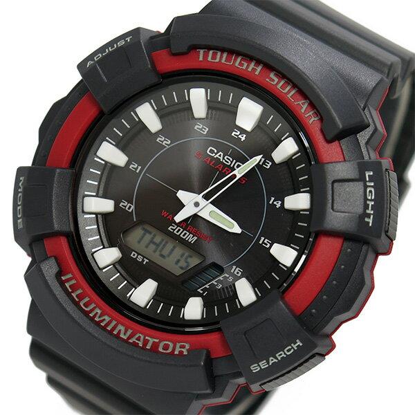 カシオ CASIO スポーツ ソーラー メンズ 腕時計 時計 AD-S800WH-4A ブラック【楽ギフ_包装】
