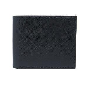 シルバノビアジーニ二つ折り短財布メンズ7848012ブラック【送料無料】【楽ギフ_包装】