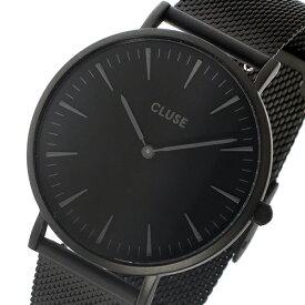 クルース CLUSE ラ・ボエーム メッシュベルト 38mm レディース 腕時計 CL18111 ブラック/ブラック