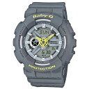 カシオ CASIO ベビーG BABY-G クオーツ レディース 腕時計 BA-110PP-8A グレー【送料無料】