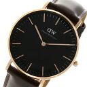ダニエル ウェリントン クラシック ブラック ブリストル/ローズ 36mm ユニセックス 腕時計 DW00100137【送料無料】