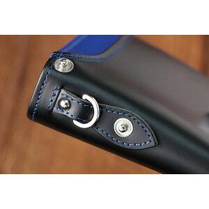 イギンボトムIGGINBOTTOM二つ折り財布短財布メンズIG-703BK-BLブルー【楽ギフ_包装】