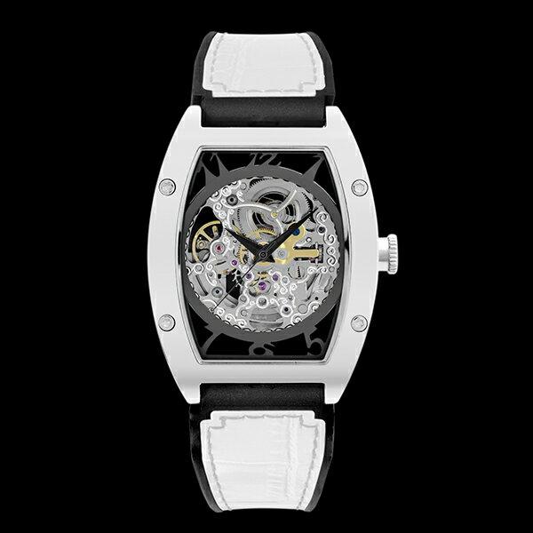 アルカフトゥーラ ARCA FUTURA 自動巻き メンズ 腕時計 スケルトン 978CWH ホワイト【送料無料】【楽ギフ_包装】