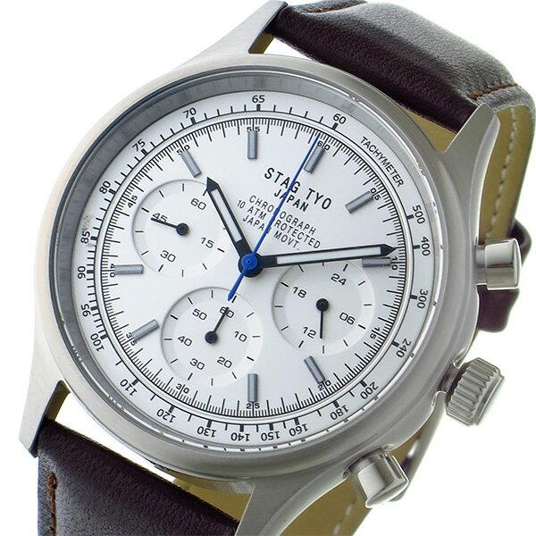 スタッグ STAG TYO クロノ クオーツ メンズ 腕時計 STG017S1 ホワイト【送料無料】【楽ギフ_包装】