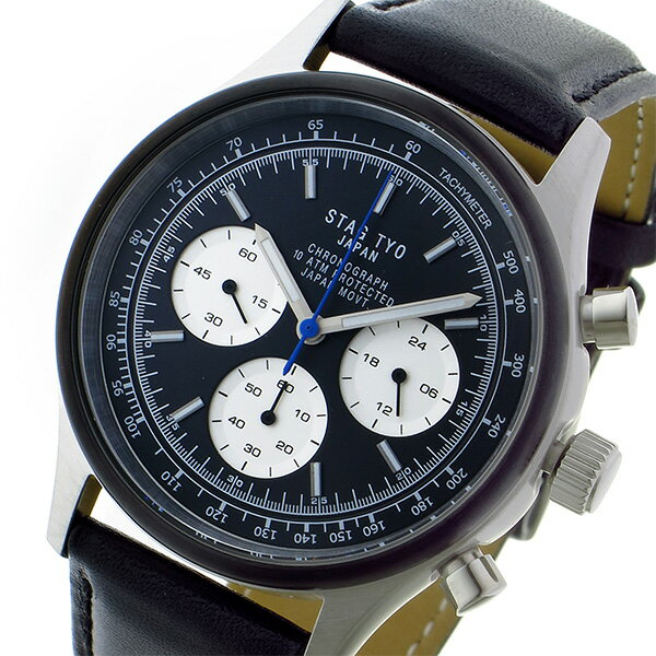 スタッグ STAG TYO クロノ クオーツ メンズ 腕時計 STG017S2 ブラック【送料無料】【楽ギフ_包装】