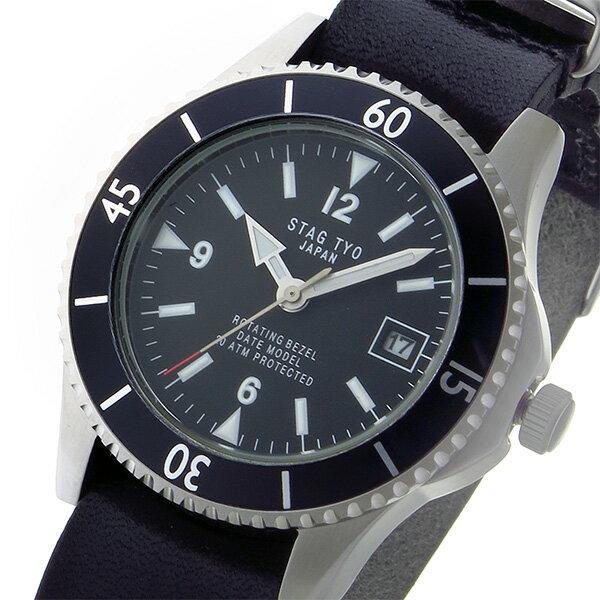 スタッグ STAG TYO クオーツ メンズ 腕時計 STG018S2 ブラック【送料無料】【楽ギフ_包装】