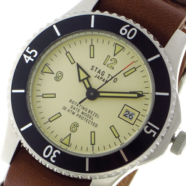 スタッグ STAG TYO クォーツ メンズ 腕時計 STG018LT1 ベージュ【送料無料】【楽ギフ_包装】