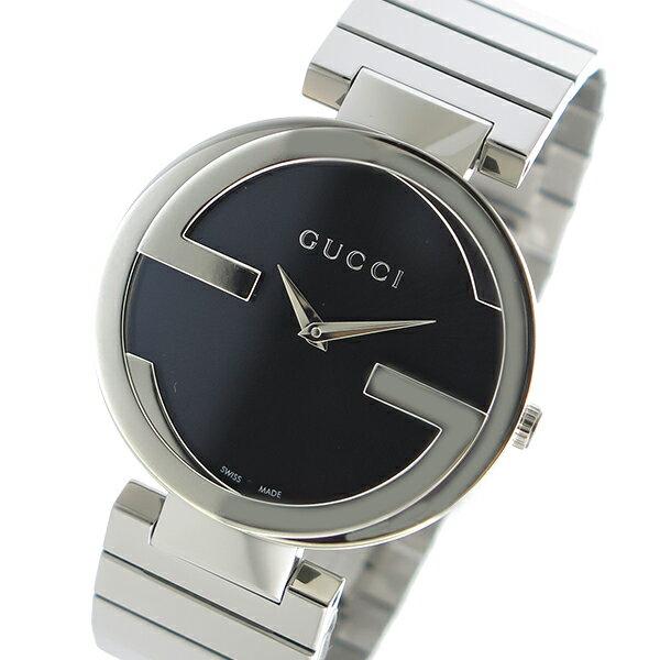 グッチ GUCCI INTERLOCKING クオーツ レディース 腕時計 YA133307 ブラック【送料無料】【楽ギフ_包装】
