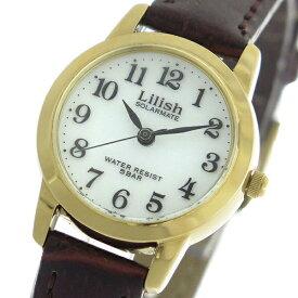 シチズン CITIZEN リリッシュ LILISH ソーラー クオーツ レディース 腕時計 時計 H049-104 ホワイト/ブラウン【S1】
