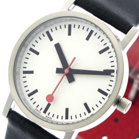 モンディーン MONDAINE 腕時計 レディース A6583032316OM クラシックピュア Classic Pure 30mm クォーツ ホワイト ブラック 裏面レッド【送料無料】