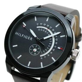 トミーヒルフィガー TOMMY HILFIGER 腕時計 メンズ 1791478 クォーツ ブラック ブラウン【送料無料】